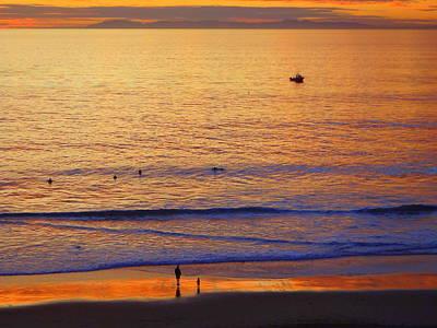 San Clemente State Beach Photograph - Butterscotch Beach by Linda Larson