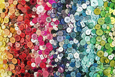 Button Button Art Print by Catherine MacBride