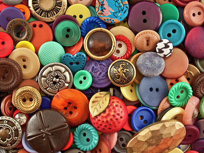 Multi Colored Photograph - Buttons by Jeff Suhanick