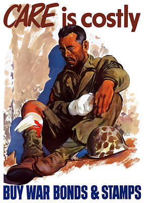 American Soldier Painting - Buy War Bonds And Stamps by War Is Hell Store