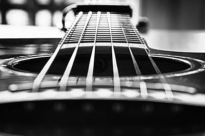 Photograph - Bw Guitar by Javier Luces