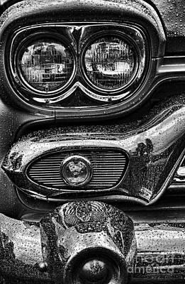 Bw Headlight Abstract Art Print by Randy Harris