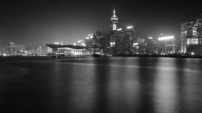 bw Hong Kong night scene Original