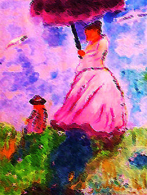 Painting - By Monet  Impressionist  Artist by Anna Lewis