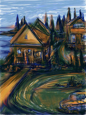 Mixed Media - By The Bay by Russell Pierce