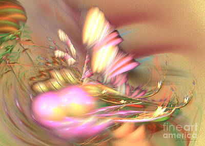 Digital Art - By The Field - Fractal Art by Sipo Liimatainen