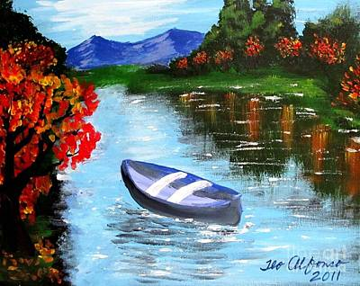 Painting - By The Lake by Teo Alfonso