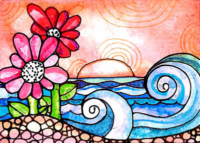 By The Shore Art Print by Robin Mead