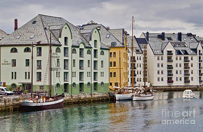 Photograph - By The Waterside Alesund Norway by Gerda Grice
