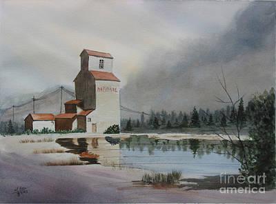 Grain Elevator Painting - Bygone Days by Mohamed Hirji