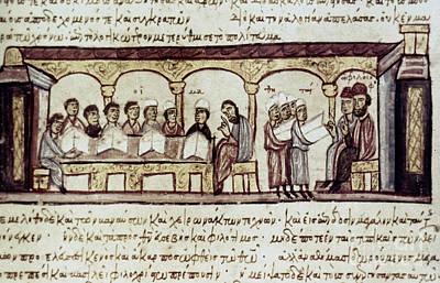 Photograph - Byzantine Philosophy School by Granger