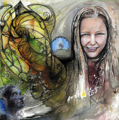 Painting - C D Cover Sabrina Roberts by Anne-D Mejaki - Art About You productions