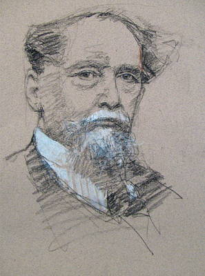 Drawing - C Dickens  by Cliff Spohn
