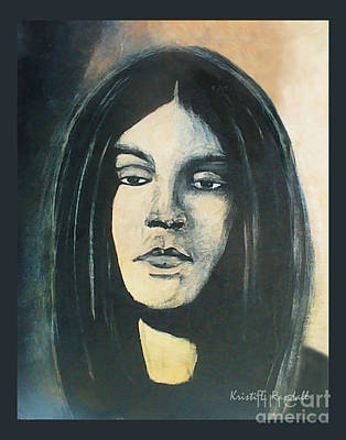 Painting - C. J. Ramone The Ramones Portrait by Kristi L Randall