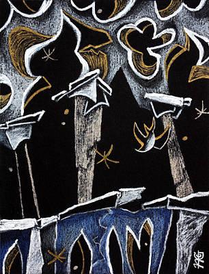 Ca' D'oro - Graphic Arts Illustration Venice Italy Art Print by Arte Venezia