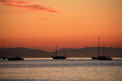 Photograph - Ca Ships At Sunrise by Sheila Kay McIntyre