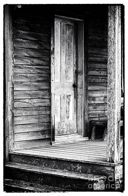 Pine Barrens Photograph - Cabin Door by John Rizzuto