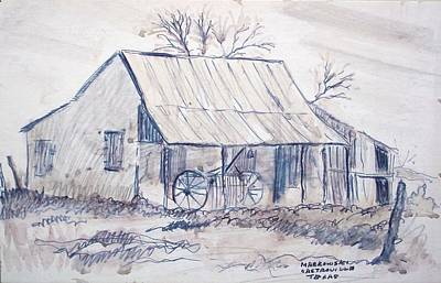 Bycicle Drawing - Cabin In Castroville by Bill Joseph  Markowski