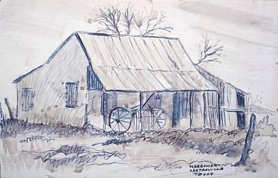 Cabin Window Drawing - Cabin In Castroville by Bill Joseph  Markowski