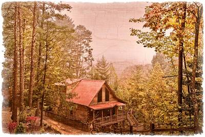 Cabin In The Pines Art Print by Debra and Dave Vanderlaan