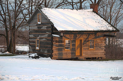 Photograph - Cabin In The Snow by David Arment