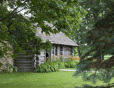 Photograph - Cabin In The Woods - Little House Wayside by George Hawkins