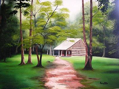 Painting - Cabin by Maria Mills