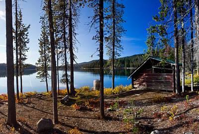 Cabin On Elk Lake Art Print by Twenty Two North Photography
