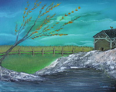 Cabin Art Print by Shadrach Ensor