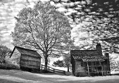 Cabin Under Buttermilk Skies I Art Print by Dan Carmichael