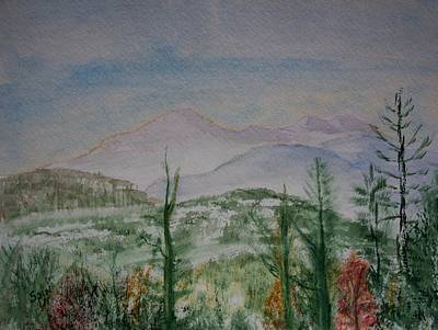 Smokey Mountains Painting - Cabin View by Spencer  Joyner