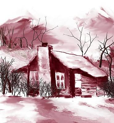 Digital Art - Cabin2 by David Lane