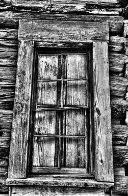 Photograph - Cabin's Window by Greg Sharpe