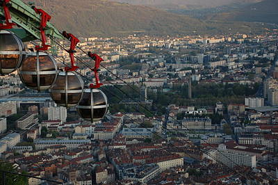 Photograph - Cable Car In Grenoble  by Dany Lison