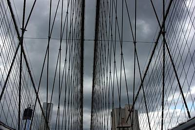 Photograph - Cables On The Bridge by David Bearden