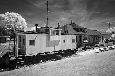 Photograph - Caboose And Depot by Mary Almond