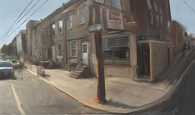 Philadelphia Scene Digital Art - Cacia's Bakery Philadelphia  by RG McMahon