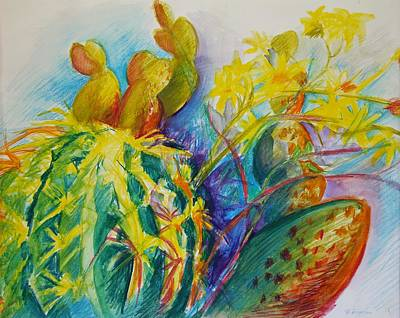 Painting - Cacti Fiesta by Veronique Branger