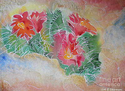Mixed Media - Cactus Art by M C Sturman