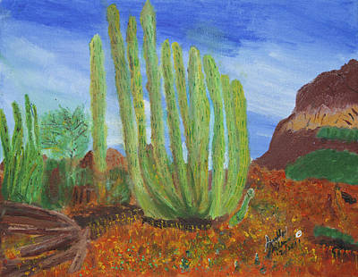 Painting - Cactus Beauty by Swabby Soileau