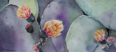 Cactus Bloom Art Print by Regina Ammerman