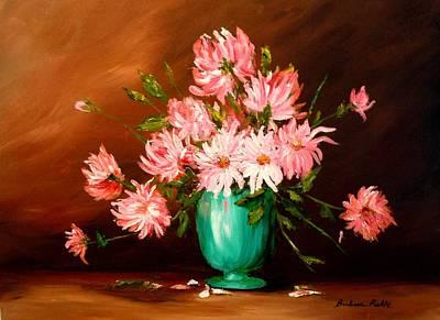 Cactus Dahlias Art Print by Barbara Pirkle