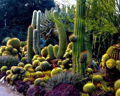 Huntington Digital Art - Cactus Garden by Patricia Stalter