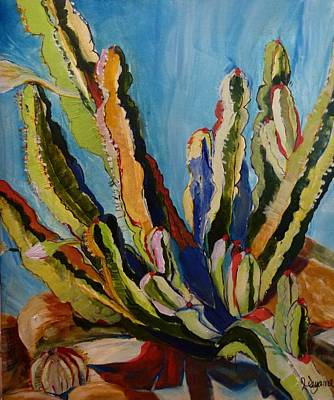 Cactus In The Sun Art Print by Suzanne Willis