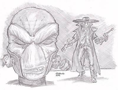 Drawing - Cad Bane by Chris  DelVecchio