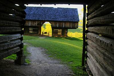 Art Print featuring the photograph Cade's Cove Cantilever by Doug McPherson