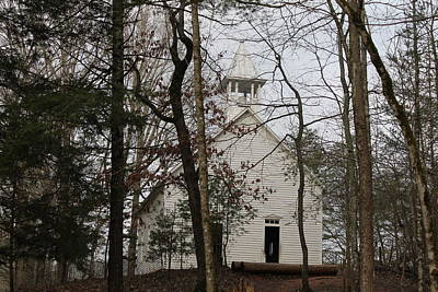 Photograph - Cade's Cove Church by Lawrence Scott