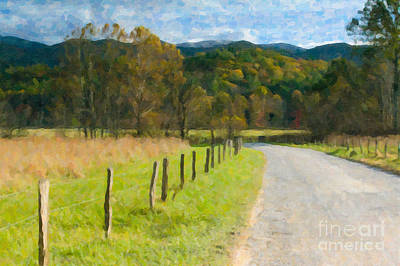 Photograph - Cades Cove Hyatt Lane In Oil by Clarence Holmes