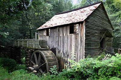 Grist Mill Photograph - Cade's Grist Mill by Barry Jones