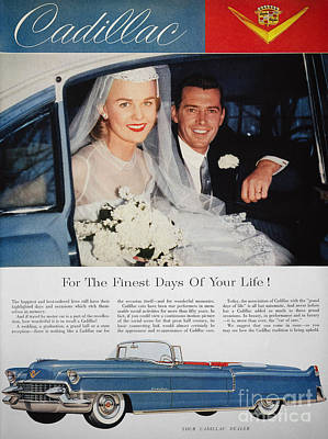 1955 Cadillac Photograph - Cadillac Ad, 1955 by Granger